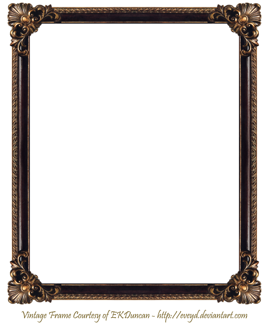 Framed house clipart image freeuse download frame png | Elaborate Wood Frame 3 by EKDuncan by EveyD on ... image freeuse download
