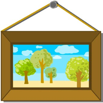 Framed picture clipart