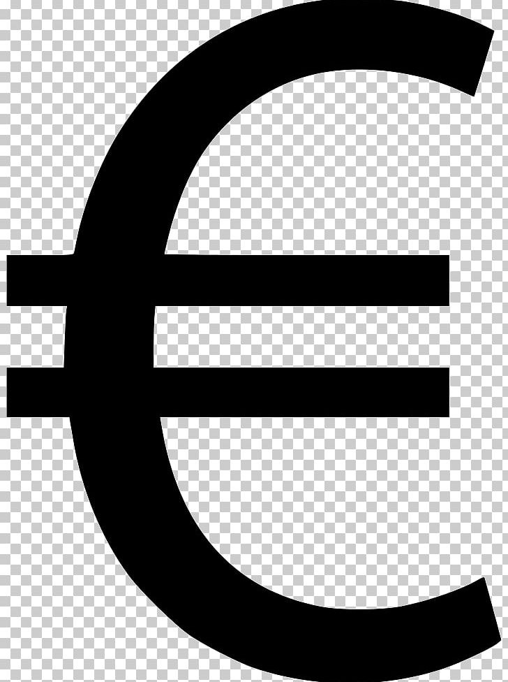 Currency symbol euro sign. Franc clipart