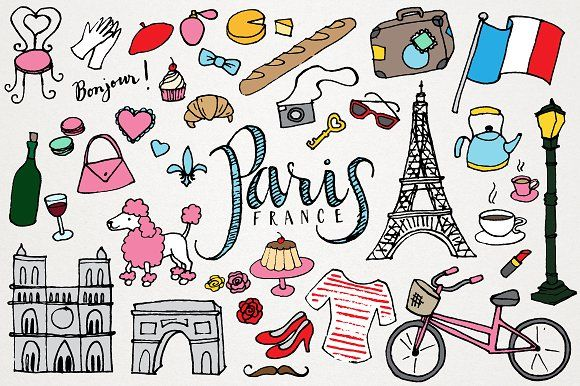 Franc clipart. Paris france illustrations by