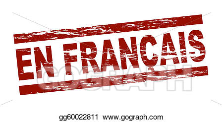 Francais clipart. Stock illustration stamp en
