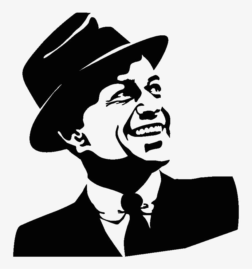 Sticker portrait png image. Frank sinatra clipart