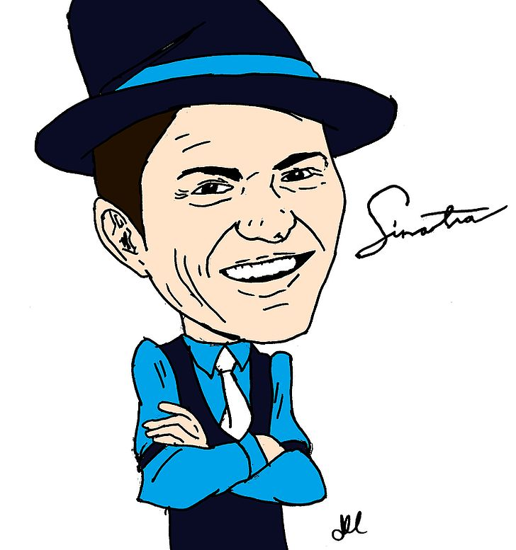 Cartoon drawing png actor. Frank sinatra clipart