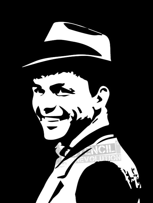Frank sinatra clipart vector transparent library Frank Sinatra Stencils on Stencil Revolution - Clip Art Library vector transparent library