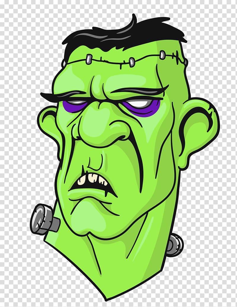 Frankenstein clipart with transparent background. Illustration s monster