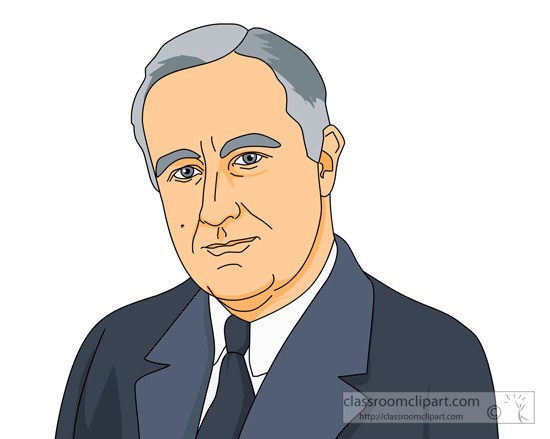 Franklin roosevelt clipart. President d portal