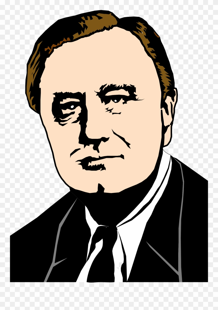 Franklin roosevelt clipart. Cliparts d silhouette png