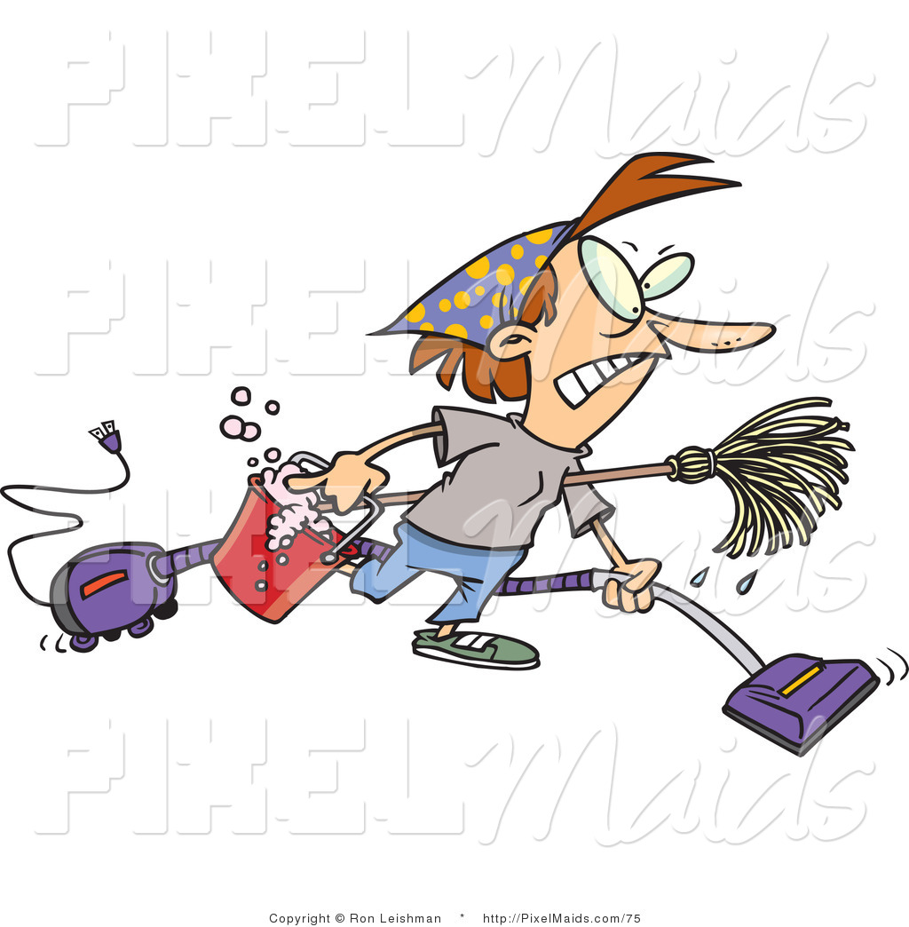 Frantic woman clipart. Of a doing spring