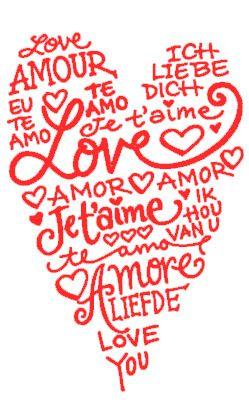 Frases de amor clipart png freeuse download Vinilo de medida 40x25cm con forma de corazón compuesto por frases ... png freeuse download