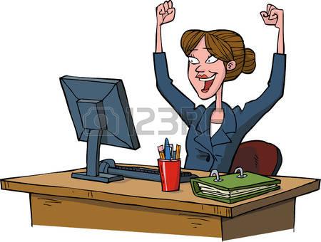 Frau am computer clipart svg transparent stock Frau Am Computer Lizenzfreie Vektorgrafiken Kaufen: 123RF svg transparent stock