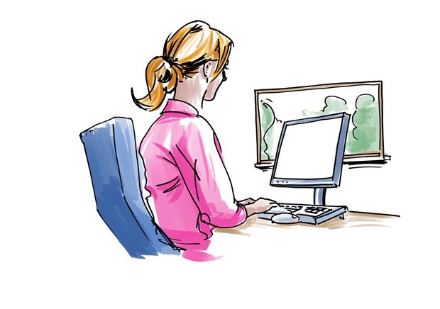 Frau am computer clipart clip art library library Scribbles · Joël Keßler (Illustration & Design) clip art library library