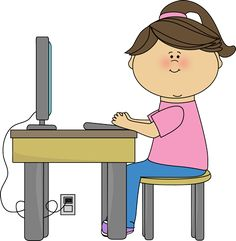 Frau am computer clipart image free Wochenplan | Schule | Pinterest image free