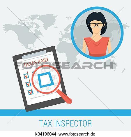 Frau am steuer clipart clip freeuse download Clipart - begriff, arbeit, von, steuer, inspektor k34196044 ... clip freeuse download
