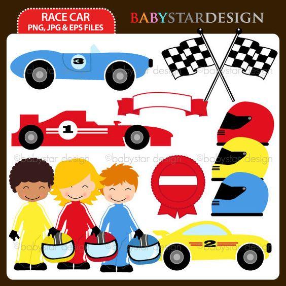 Frau auto clipart clip art black and white Race Car Clipart Set. via Etsy. | Birthday | Pinterest | Cars ... clip art black and white