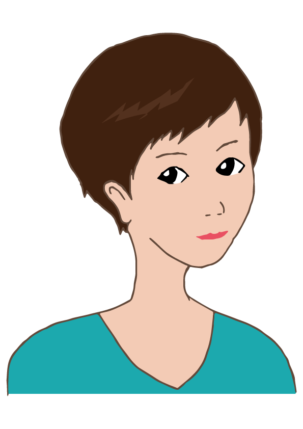 Frau clipart royalty free download short hair woman | Free Illust Net royalty free download