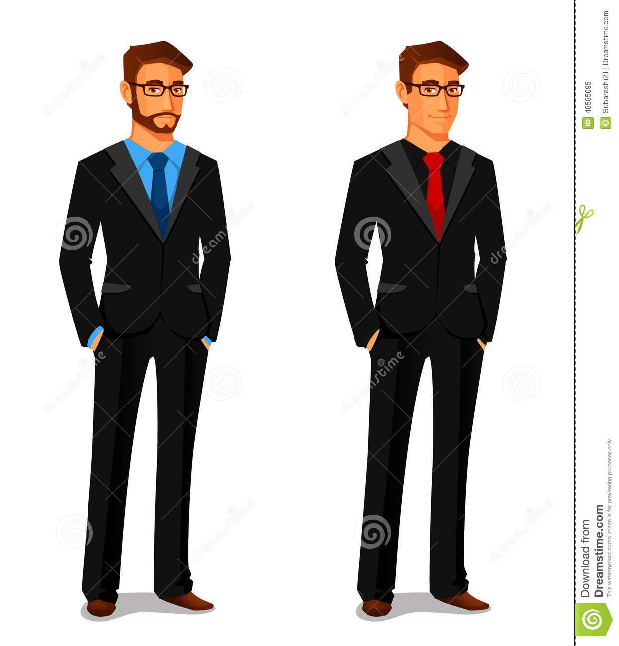 Frau im anzug clipart clipart royalty free download Junger Mann Und Frau Im Anzug Vektor Abbildung - Bild: 43765756 clipart royalty free download