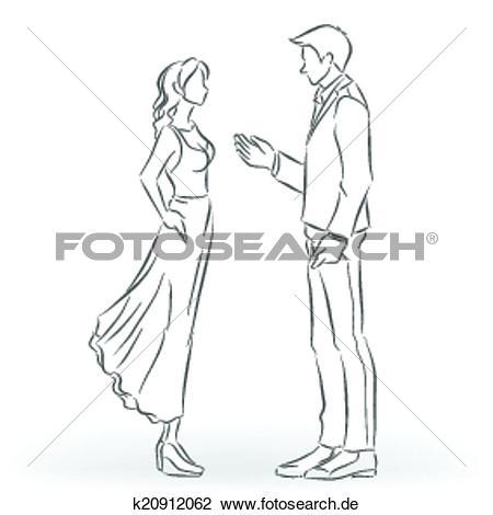 Frau im anzug clipart banner royalty free Clipart - mann, in, dass, anzug, und, frau, in, dass, kleid, ar ... banner royalty free