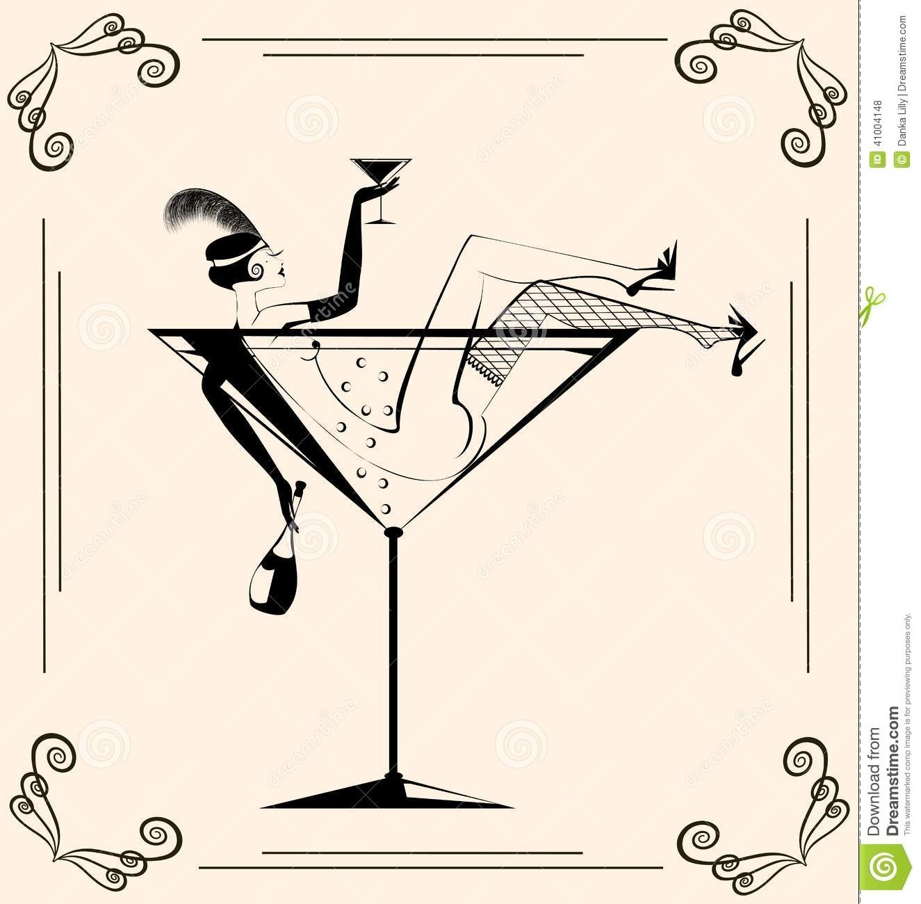 Frau im cocktailglas clipart transparent download Frau im cocktailglas clipart - ClipartFest transparent download