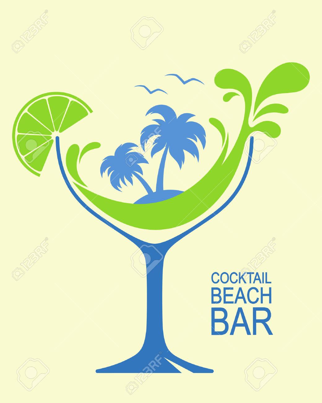 Frau im cocktailglas clipart clip freeuse download Cocktail Beach Lizenzfreie Vektorgrafiken Kaufen: 123RF clip freeuse download