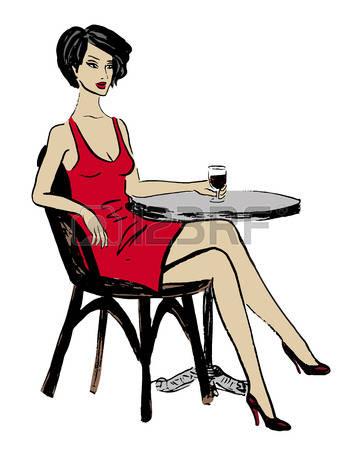 Frau im cocktailglas clipart picture black and white stock Frau Alkohol Lizenzfreie Vektorgrafiken Kaufen: 123RF picture black and white stock
