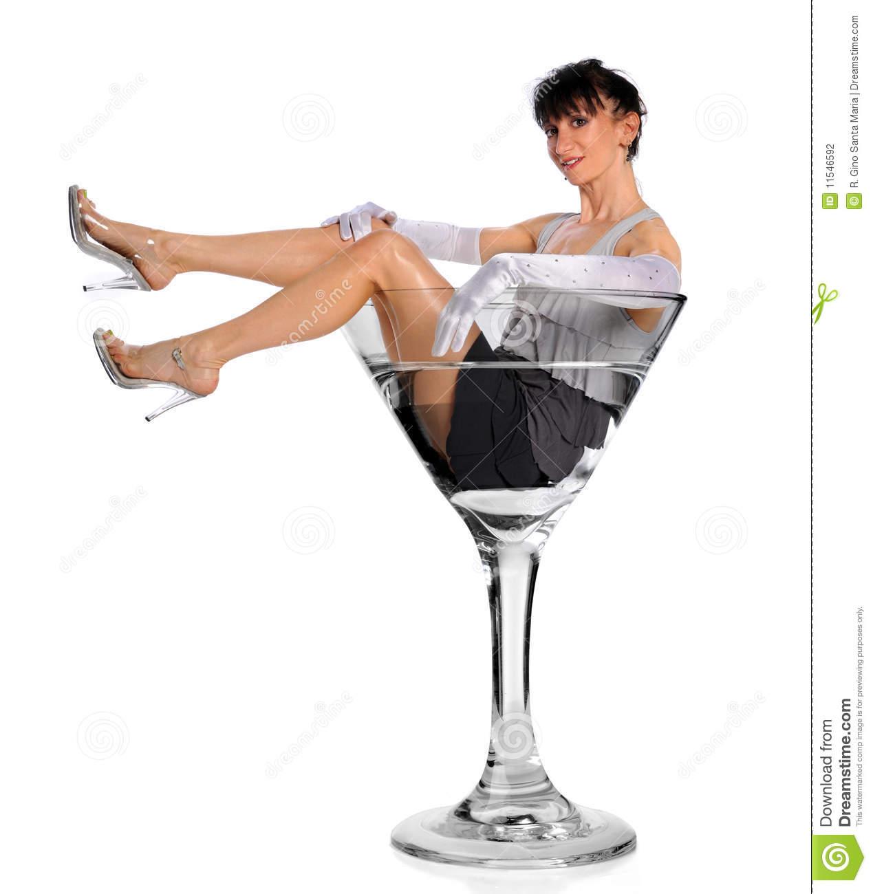Frau im cocktailglas clipart royalty free Frau Im Martini-Glas Stockfotografie - Bild: 11546592 royalty free