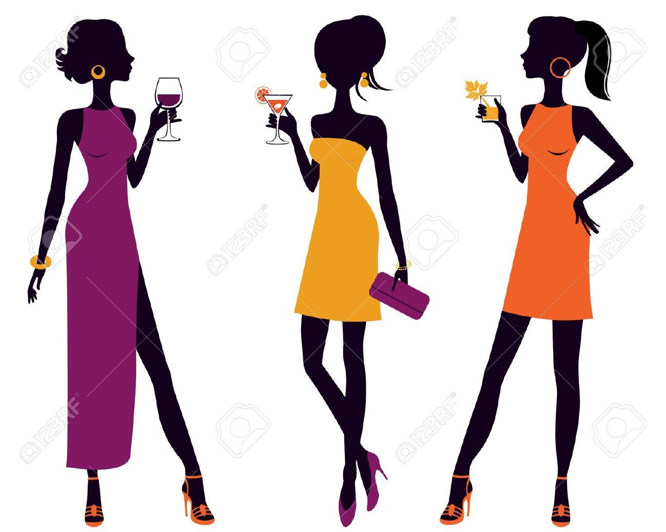Frau im cocktailglas clipart svg download Cocktail Frau Lizenzfreie Vektorgrafiken Kaufen: 123RF svg download