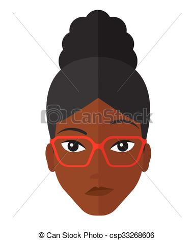 Frau mit brille clipart banner freeuse stock Vektor Clipart von Neidisch, frau, Brille - Neidisch, ein, african ... banner freeuse stock