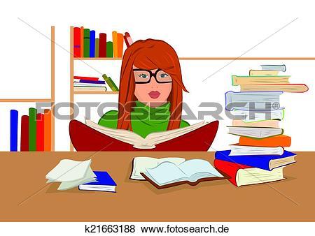 Frau mit brille clipart svg library Clip Art - karikatur, junge frau, in, brille, sitzen, und, lesende ... svg library