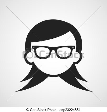 Frau mit brille clipart svg library library Clipart Vektor von symbol, frau, Brille - vektor, symbol, frau ... svg library library