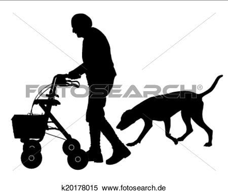 Frau mit hund clipart clip art transparent Clipart - alte frau, mit, hund k19793890 - Suche Clip Art ... clip art transparent