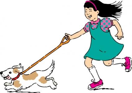 Frau mit hund clipart graphic royalty free Spaziergang mit Hund, free vector - Clipart.me graphic royalty free