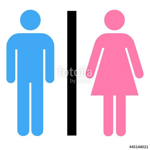 Frau und mann clipart royalty free Toiletten Symbol Mann und Frau