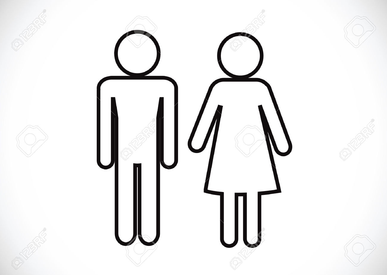Frau und mann clipart clip free library Pictogram Man Woman Sign Icons, Toilet Sign Or Restroom Icon ... clip free library