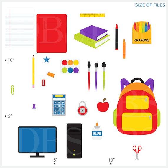 Clip art digital supplies. Fre printable school clipart