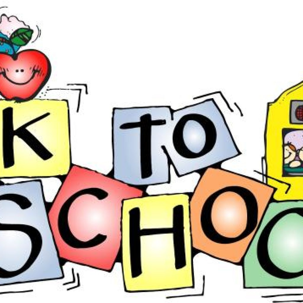 Fre printable school clipart. Back to for free