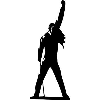 Freddie mercury silhouette clipart. Broomsticker queen large wall