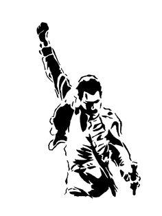 best murals images. Freddie mercury silhouette clipart