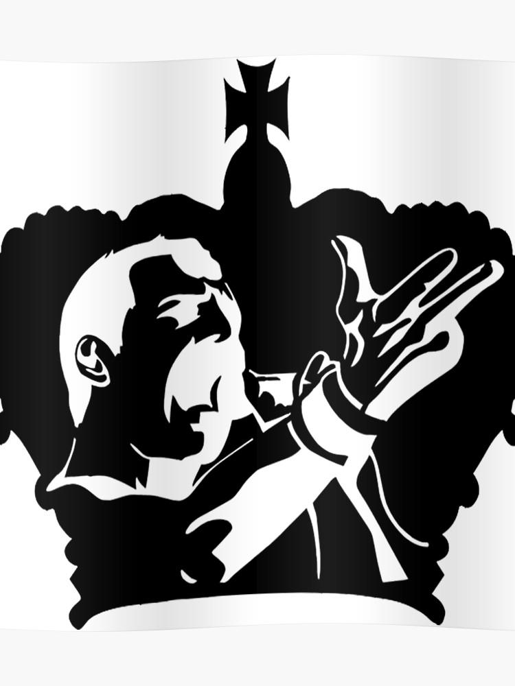 Poster . Freddie mercury silhouette clipart