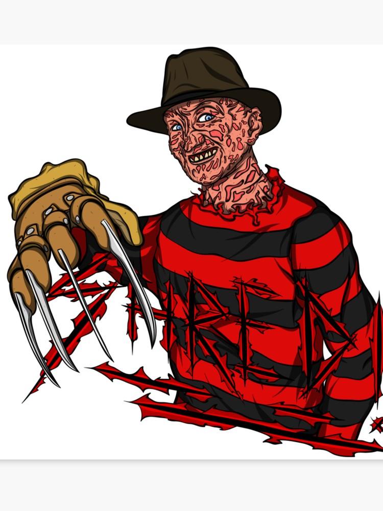 Krueger canvas print . Freddy kruger clipart