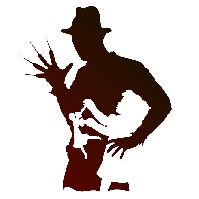 Krueger silhouette illustration art. Freddy kruger clipart