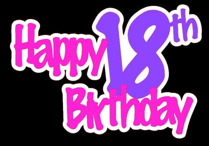 Happy download clip art. Free birthday clipart for 18 year old