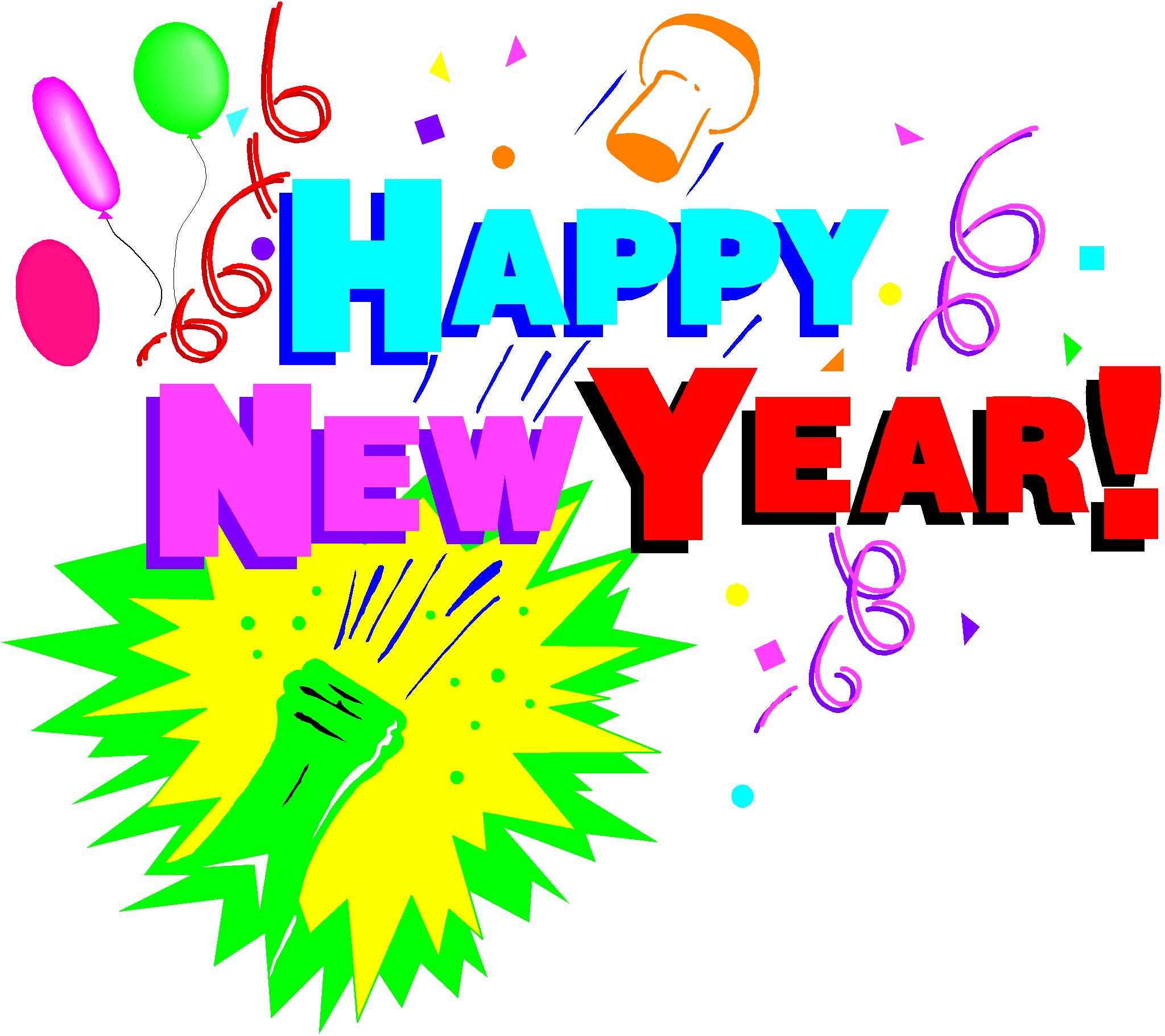 Free clipart images new years eve