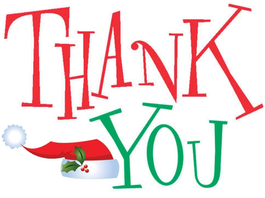 Free 2017 clipart. Christmas thank you clip