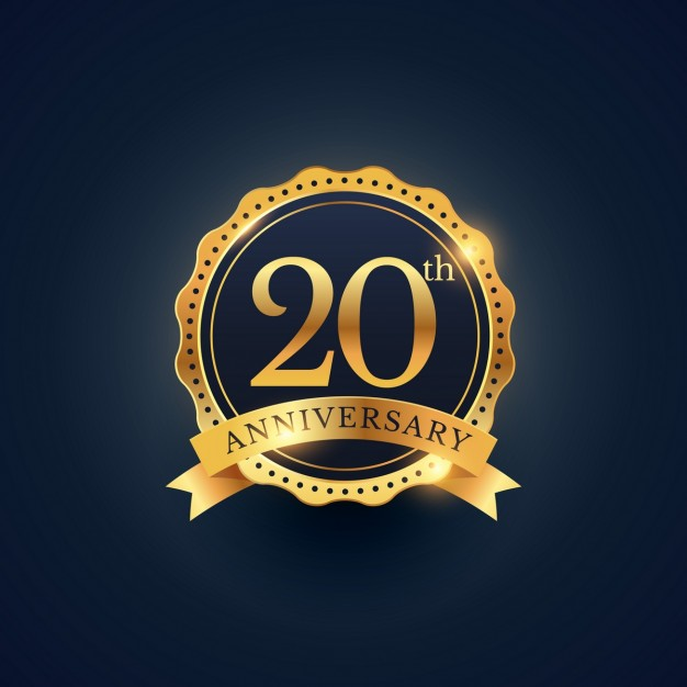 Free 20th anniversary clipart svg royalty free 20th anniversary, golden edition Vector | Free Download svg royalty free