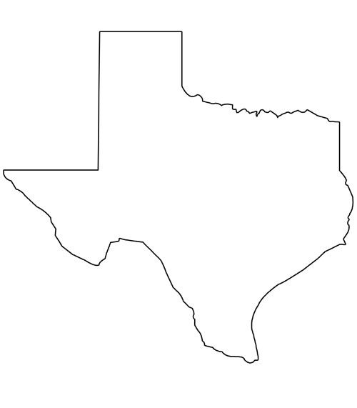 Free 3 5 inch state of texas clipart vector freeuse library Printable Shape of Texas from PrintableTreats.com | Shapes and ... vector freeuse library