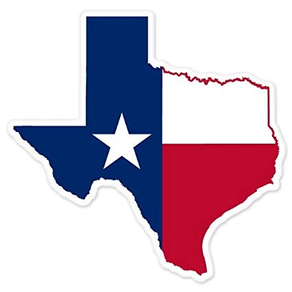 Free 3 5 inch state of texas clipart clip art freeuse Texas State Map Flag car bumper window sticker 4\