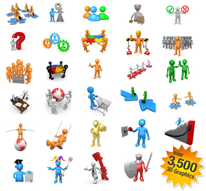 Free 3d animated clipart for powerpoint free download clipart royalty free stock Powerpoint 3d figures free download clipart royalty free stock