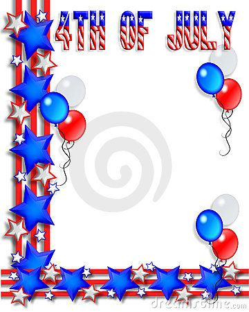 Free vector clipart fourth of july border jpg black and white free 4th of july printables | 4th Of July Border Royalty Free Stock ... jpg black and white