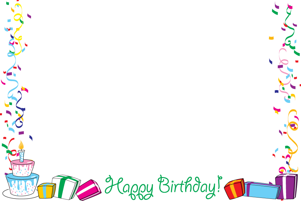 Happy birthday clipart frame jpg download Birthday Borders For Pictures Images | FRAMES...and...BORDERS ... jpg download