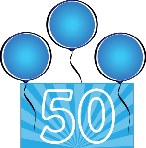 Cliparts download clip art. Free 50th birthday clipart borders